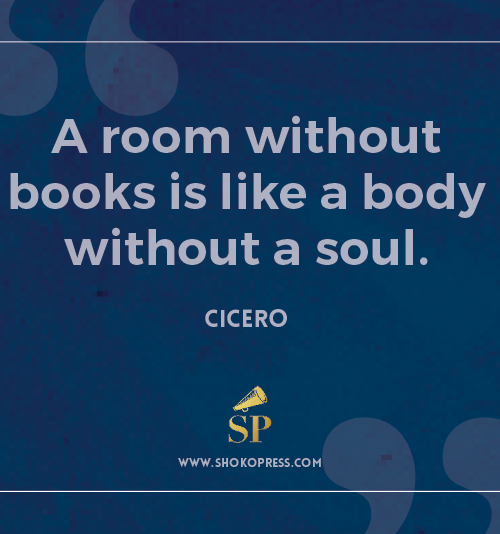 Shoko Press Inspirational Book quote by famous writer Cicero