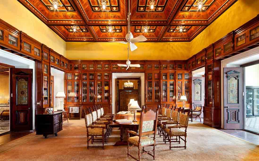 Library at The Taj Falaknuma Palace Hyderabad India