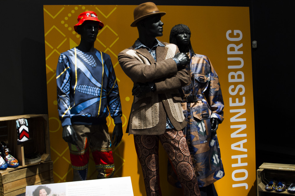 Contemporary African Fashion from Johannesburg, South Africa on display at the exhibition Fashion Cities Africa
