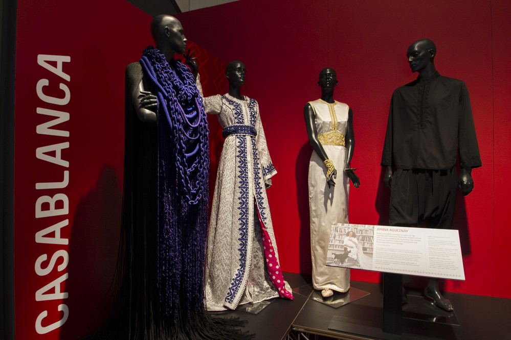 Contemporary African Fashion from Casablanca, Morocco on display at the exhibition Fashion Cities Africa
