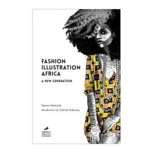 African Fashion Book - Fashion Illustration Africa art book by Shoko Press features an illustration by Nigerian illustrator Udegbunam TBJ on the front cover