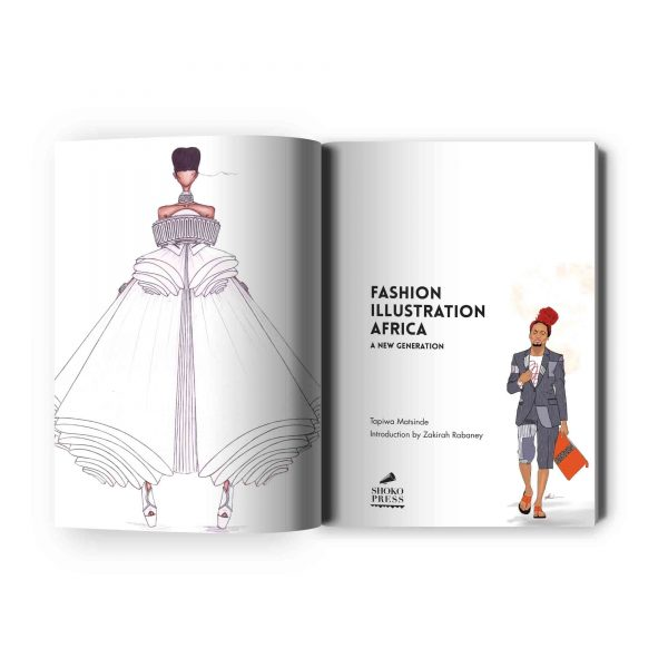 African fashion book - Fashion Illustration Africa book by African art book publisher Shoko Press