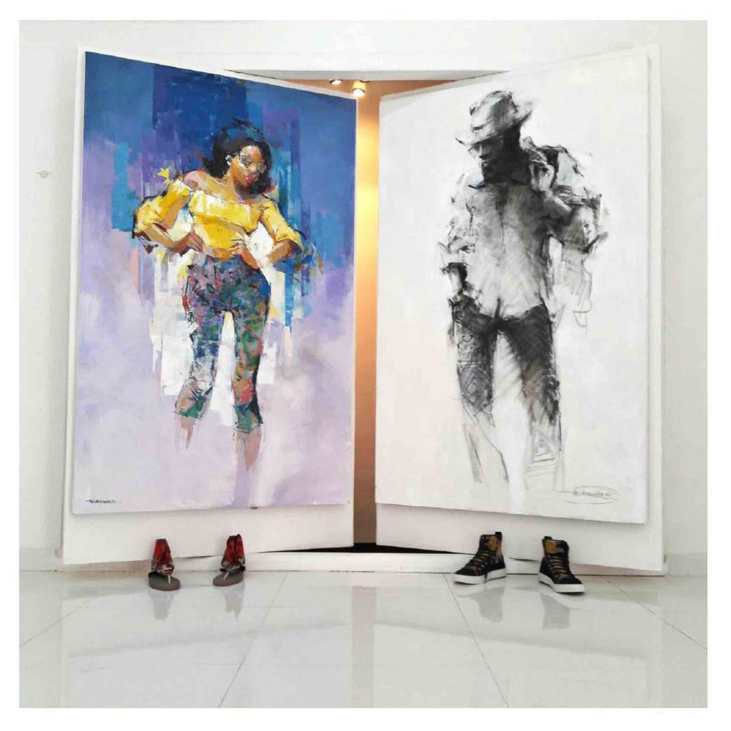 Contemporary African art by Nigerian Artist Ibe Ananaba