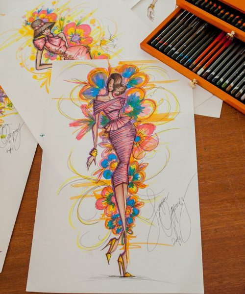 African Fashion Illustrator Papa Oppong from Ghana