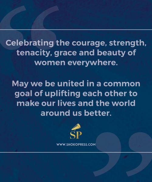 Shoko Press Marking International Women's Day 2017 The Theme - Be Bold for Change