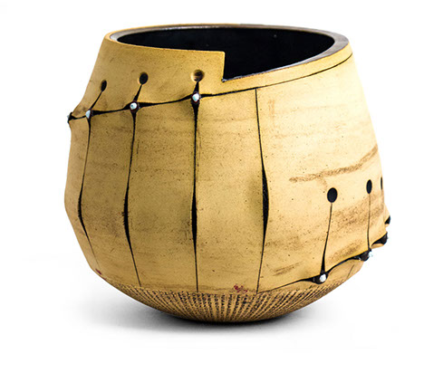 Imiso Adnile Dyalvane Scarified Collection Vase Inspired by Ancient African Tradition of Body Scarification