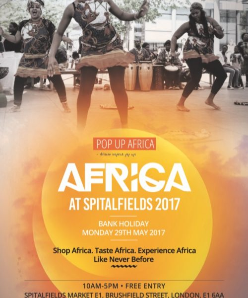 Pop Up Africa at Spitafields Market Bank Holiday Monday