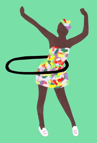 hoola hoop girl Sweet Design Studio