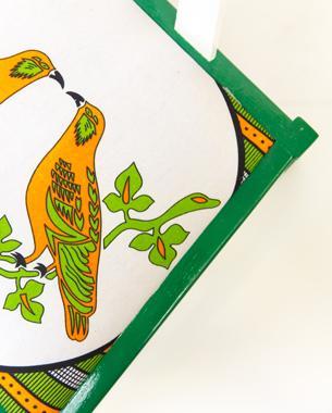 Yinka Ilori Birds of the Same Feather detail