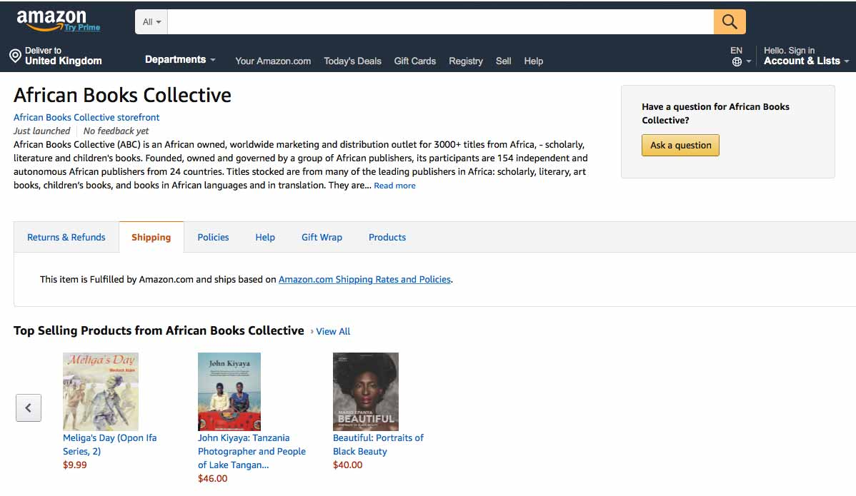 Shoko Press Art African Books Collective Amazon Prime