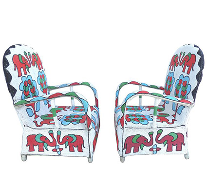 Classical African Design Yoruba Beaded Chairs Shoko Press Article
