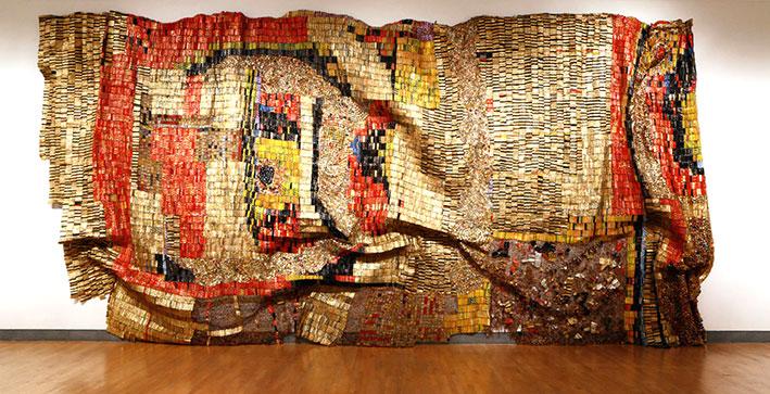 El Anatsui Wall Installation Contemporary African art