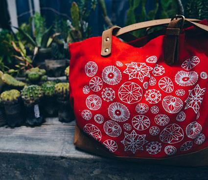 Lulu Kitololo Sandstorm bag Cacti Kenya Design