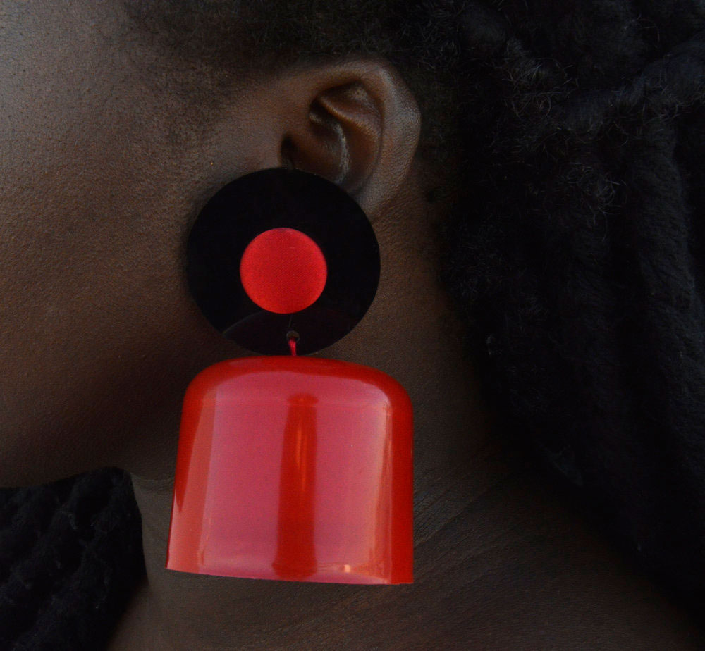 Cameroon-American Fashion Designer Nyorhn Agwe Pamm Spray Earring Shoko Press Interview