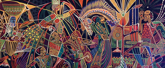 Papa Ibra Tall Tapestry Senegal Art Shoko Press Article