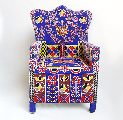 Traditional Africa Art Yoruba Beaded Chairs Shoko Press Article